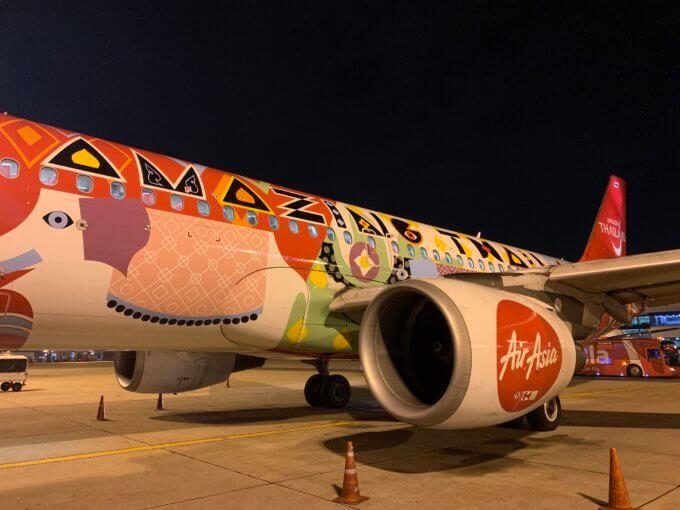 エアアジア Amazing Thailand 塗装